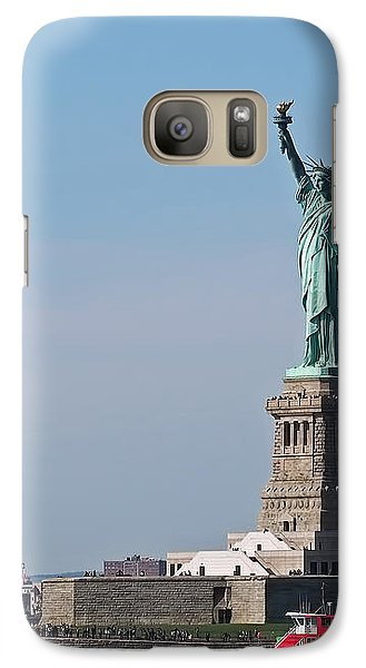 Galaxy Case featuring the photograph Statue Of Liberty by Rona Black