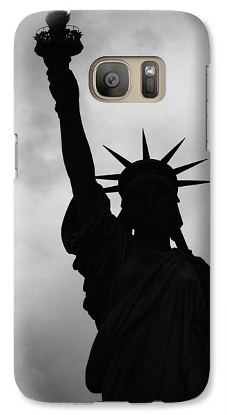 Statue Of Liberty Silhouette Galaxy S7 Case