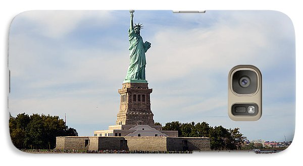 Galaxy Case featuring the photograph Statue Of Liberty by Yue Wang