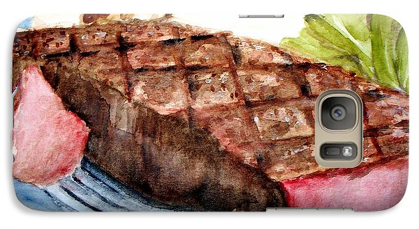 Galaxy Case featuring the painting Steak Anyone by Carol Grimes