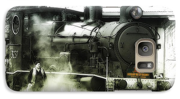 Galaxy Case featuring the photograph Steam 01 by Kevin Chippindall