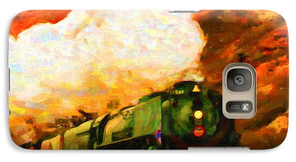 Galaxy Case featuring the digital art Steam And Sandstone by Chuck Mountain