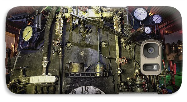Galaxy Case featuring the photograph Steam Locomotive Engine by Keith Kapple