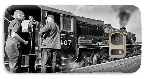Steam Locomotive Galaxy S7 Case by Grant Glendinning