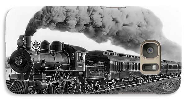 Steam Locomotive No. 999 - C. 1893 Galaxy Case by Daniel Hagerman