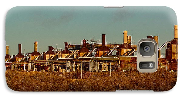 Galaxy Case featuring the photograph Steam Plant In Cymric Field by Lanita Williams