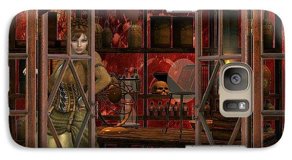Galaxy Case featuring the digital art Steam Punk Times by Digital Art Cafe
