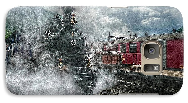 Galaxy Case featuring the photograph Steam Train by Hanny Heim
