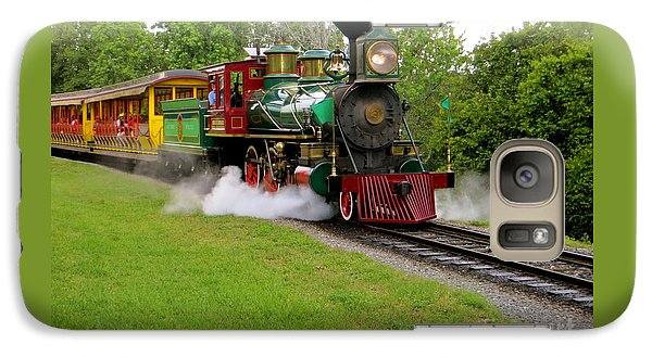 Galaxy Case featuring the photograph Steam Train by Joy Hardee