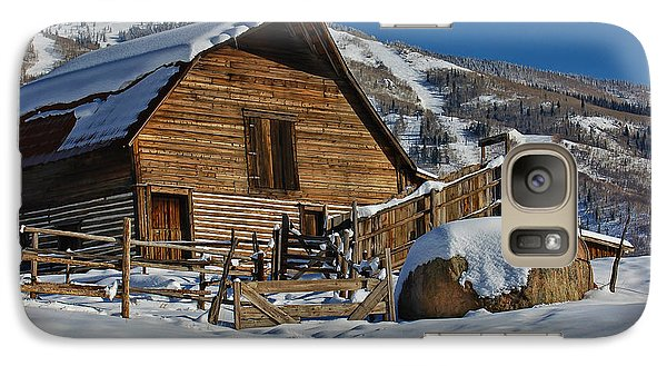 Galaxy Case featuring the photograph Steamboat Barn by Don Schwartz