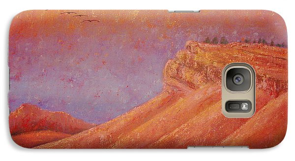 Galaxy Case featuring the painting Steamboat Mountain At Sunrise by Margaret Bobb