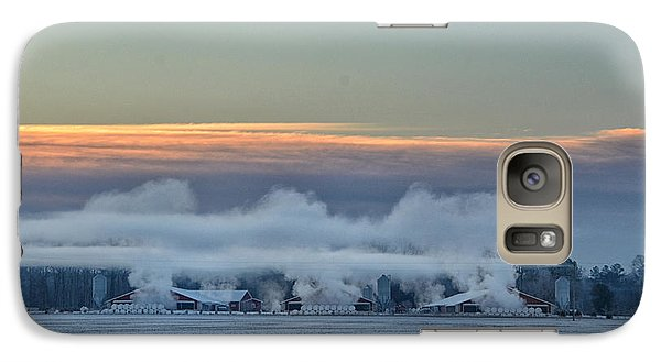 Galaxy Case featuring the photograph Steaming Houses by Tamera James