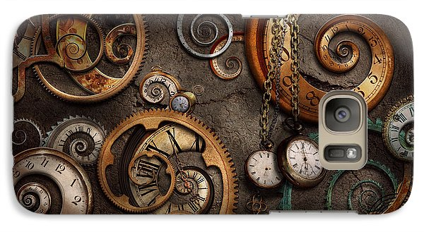 Steampunk - Abstract - Time Is Complicated Galaxy Case by Mike Savad
