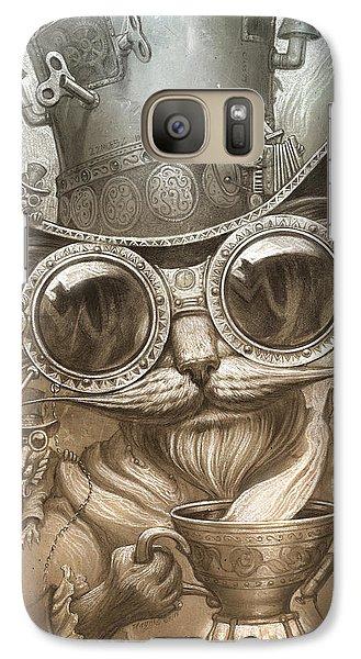 Steampunk Cat Galaxy S7 Case