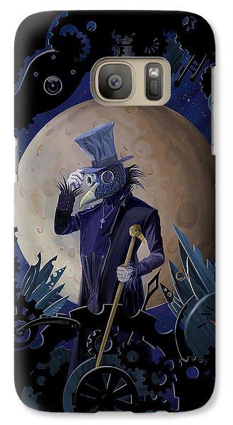Raven Galaxy S7 Case - Steampunk Crownman by Sassan Filsoof