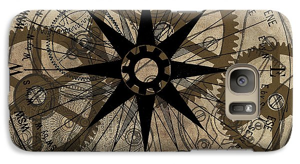 Galaxy Case featuring the painting Steampunk Gold Gears II  by James Christopher Hill