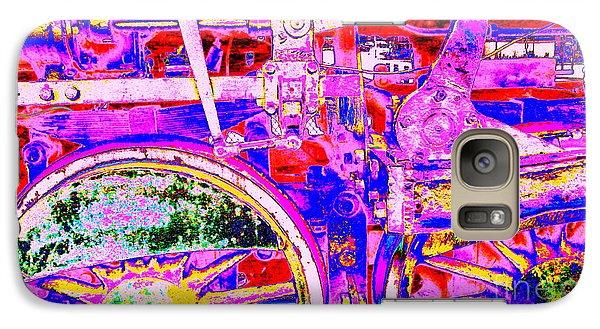 Galaxy Case featuring the photograph Steampunk Iron Horse #4 A by Peter Gumaer Ogden