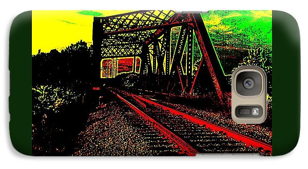 Galaxy Case featuring the digital art Steampunk Railroad Truss Bridge by Peter Gumaer Ogden