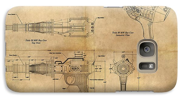 Galaxy Case featuring the painting Steampunk Raygun by James Christopher Hill