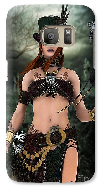 Galaxy Case featuring the digital art Steampunk Voodoo by Sandra Bauser Digital Art