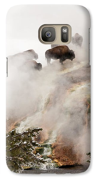 Galaxy Case featuring the photograph Steamy Bison by Sue Smith
