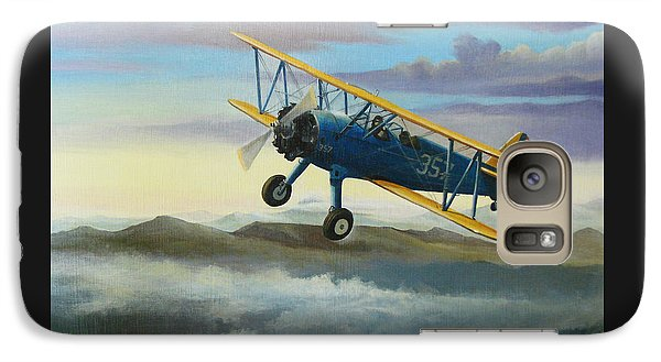 Stearman Biplane Galaxy Case by Stuart Swartz