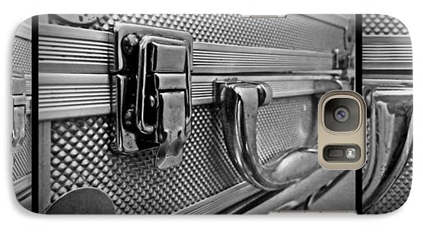 Galaxy Case featuring the photograph Steel Box - Triptych by James Aiken