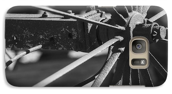 Galaxy Case featuring the photograph Steel Wagon Wheel by JRP Photography