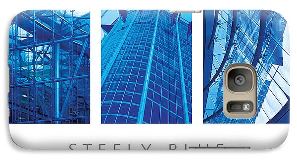 Galaxy Case featuring the digital art Steely Blue The Art Of Building Poster by David Davies