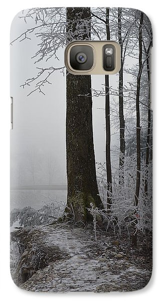 Galaxy Case featuring the photograph Steep And Frost by Felicia Tica