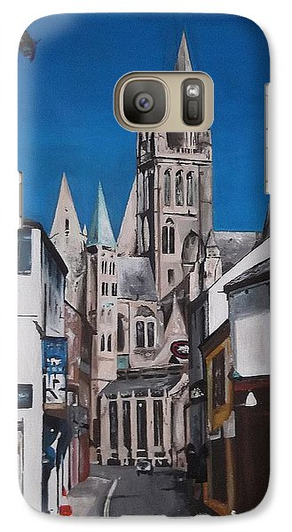 Galaxy Case featuring the painting Steeples by Cherise Foster