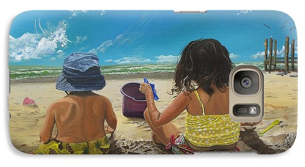 Galaxy Case featuring the painting Stella And Sal by Kevin F Heuman