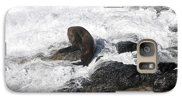 Galaxy Case featuring the photograph Steller Sea Lion - 0035 by S and S Photo