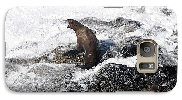 Galaxy Case featuring the photograph Steller Sea Lion - 0036 by S and S Photo