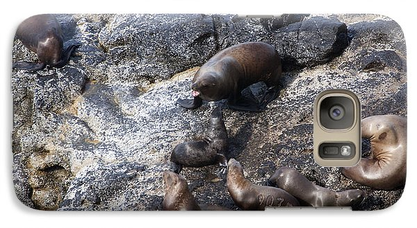 Galaxy Case featuring the photograph Steller Sea Lion - 0044 by S and S Photo
