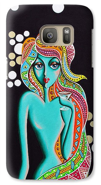 Galaxy Case featuring the painting Stephanie Groovy Chick Detail by Joseph Sonday