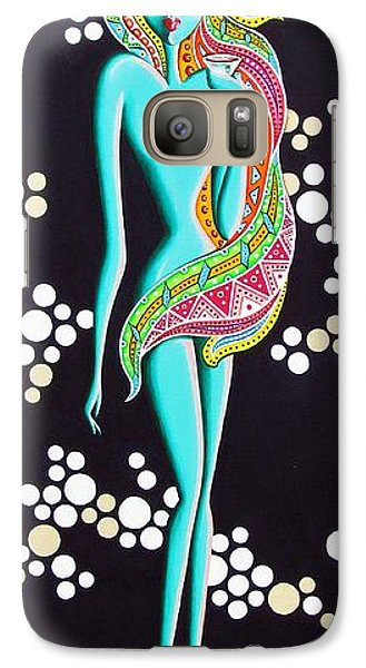 Galaxy Case featuring the painting Stephanie Groovy Chick Series by Joseph Sonday