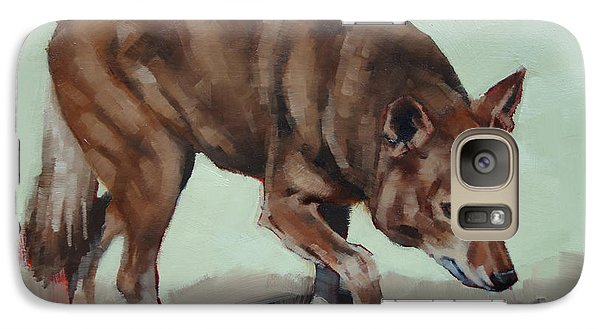 Galaxy Case featuring the painting Steppin' Wolf by Margaret Stockdale