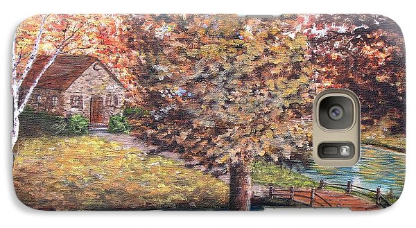 Galaxy Case featuring the painting Stepping Into Autumn by Kevin F Heuman