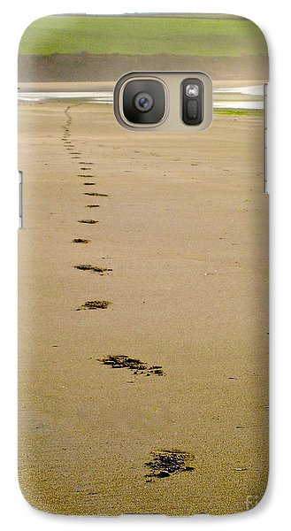 Galaxy Case featuring the photograph Steps To Inchydoney by Suzanne Oesterling