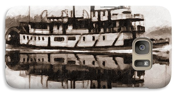 Galaxy Case featuring the photograph Sternwheeler Sol Simpson 1910 by Joe Jeffers