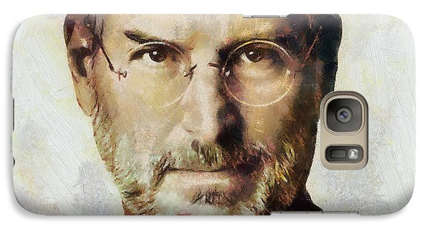Galaxy Case featuring the painting Steve Jobs  by Wayne Pascall
