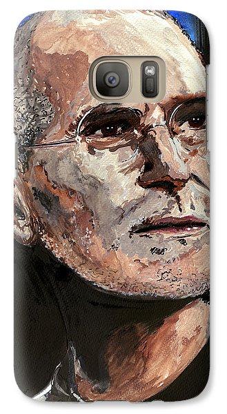 Galaxy Case featuring the painting Steven Paul Jobs by Gordon Dean II
