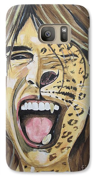 Galaxy Case featuring the painting Steven Tyler As A Wild Cat by Jeepee Aero