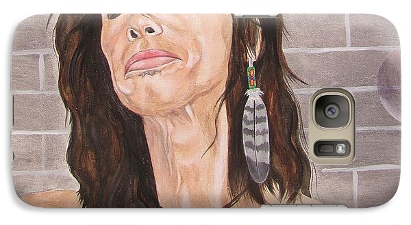 Galaxy Case featuring the painting Steven Tyler Dreams On by Jeepee Aero