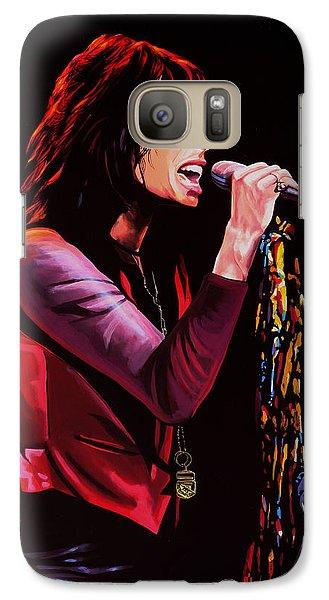 Steven Tyler In Aerosmith Galaxy S7 Case by Paul Meijering