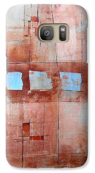 Galaxy Case featuring the painting Steven's House by Buck Buchheister