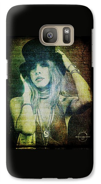 Rock And Roll Galaxy S7 Case - Stevie Nicks - Bohemian by Absinthe Art By Michelle LeAnn Scott