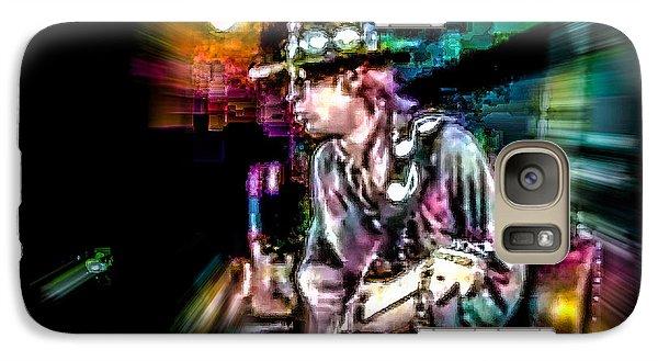 Galaxy Case featuring the photograph Stevie Ray Vaughan - Smokin' by Glenn Feron