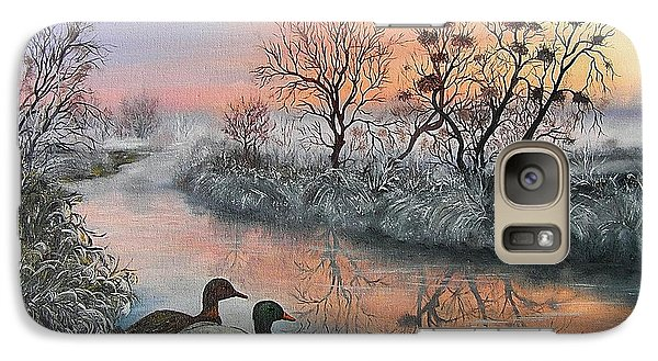 Galaxy Case featuring the painting Still Beauty by Vesna Martinjak